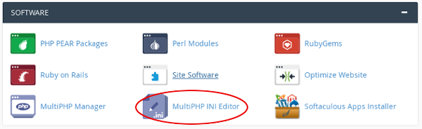 cPanel - MultiPHP INI Editor icon