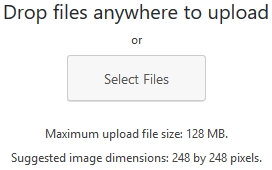 A portion of the Upload Files tab showing the option to drop files or click the Select Files button.