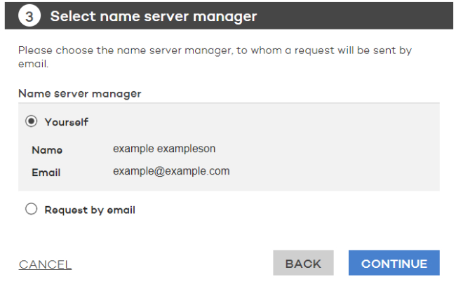 Name server manager